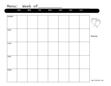Black and White https://jonestn.myshopify.com/products/weekly-menu-planners