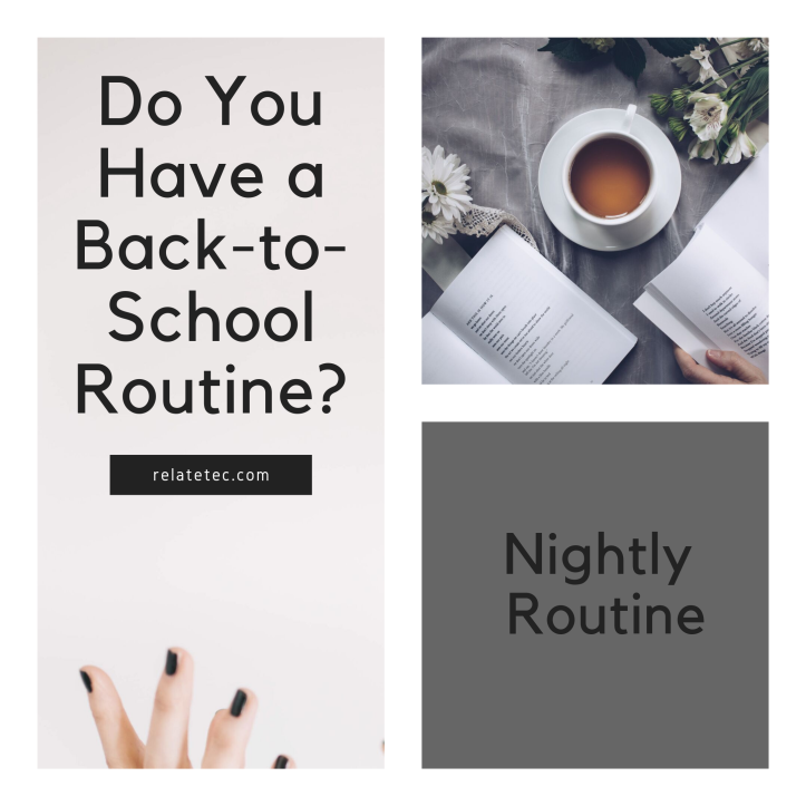 do you have a back-to-school routine