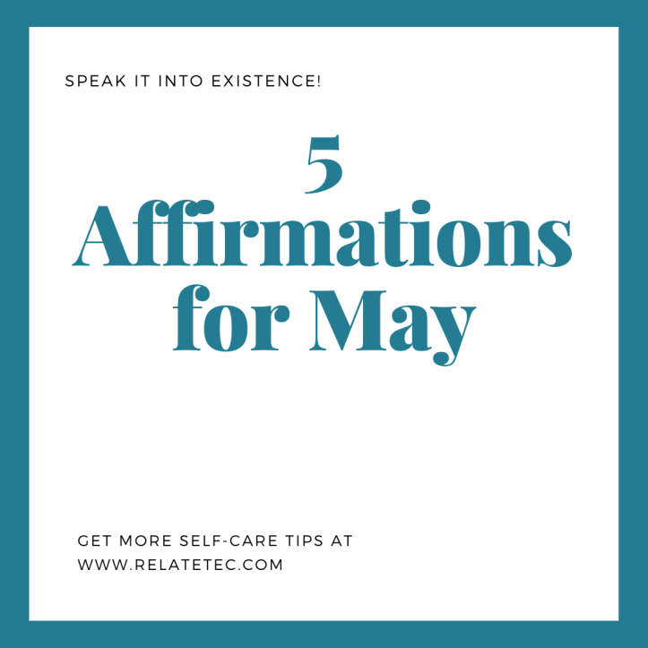 5 Affirmations for May 2020