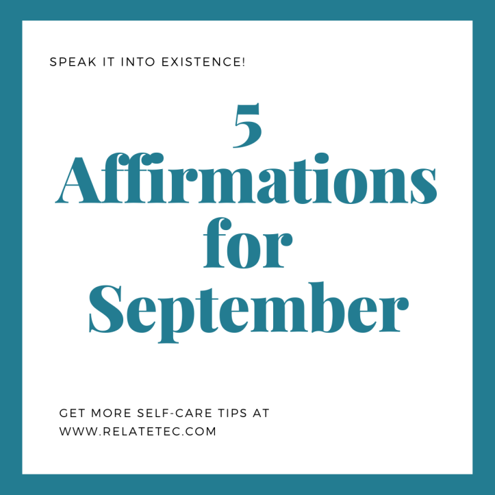 5 Affirmations for September 2020